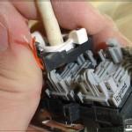 UTP розетка: Ставим модуль на место