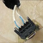 Аудио розетка: Кабель подсоединён к розетке
