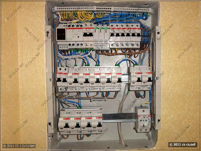 Схема подключения диф автомата - HQ.  Как подготовить грядку под огурцы.  Электропроводка - загородный дом, д. Схема...