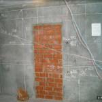 Вторая стена образцовой разметки; следите за штробой от кондиционера