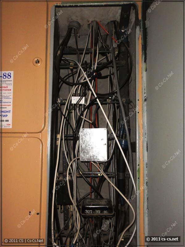 Слаботочная часть этажного щитка с TV-антенной