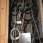 Слаботочная часть этажного щитка с пропатченной антенной разводкой