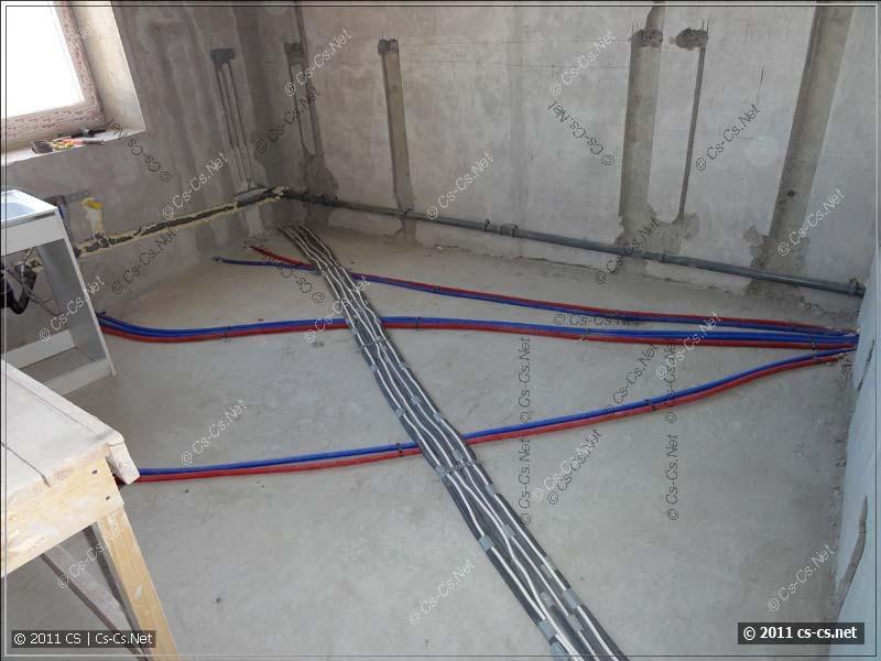 Мусор убран, готовимся к разводке кабелей