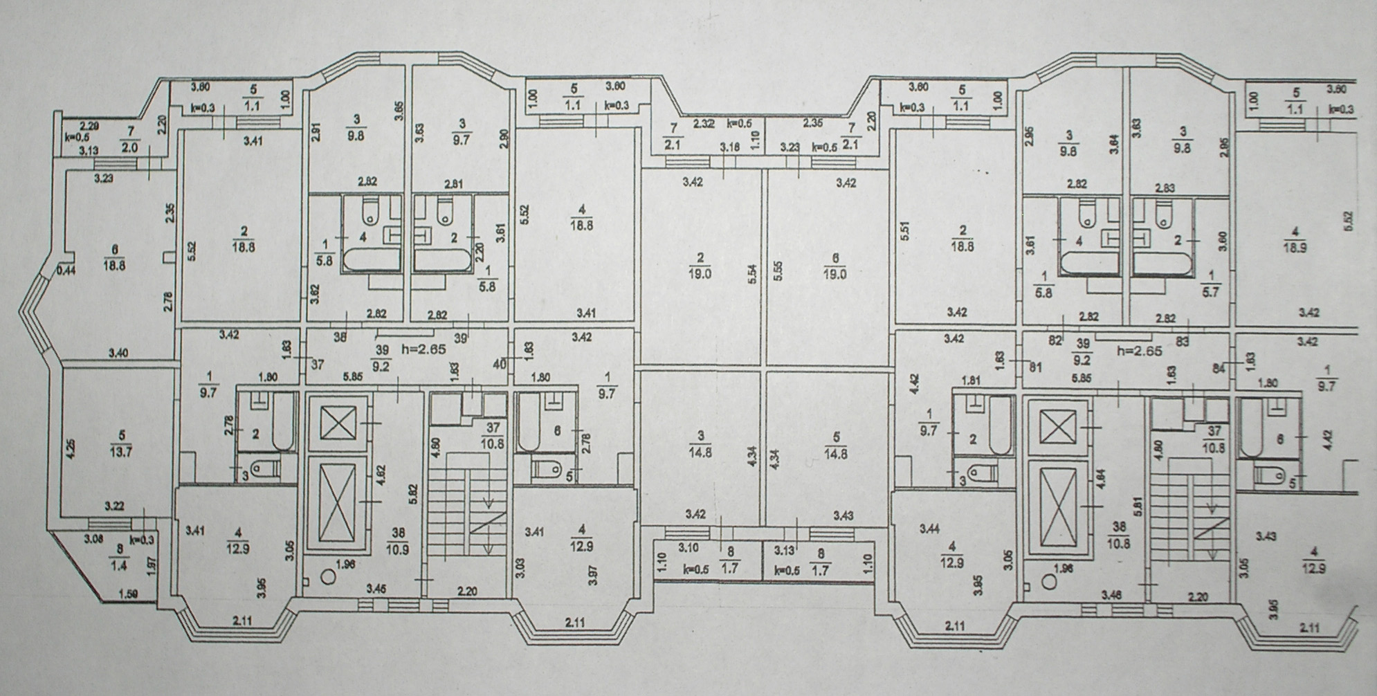 Серия дома П44к: План этажа