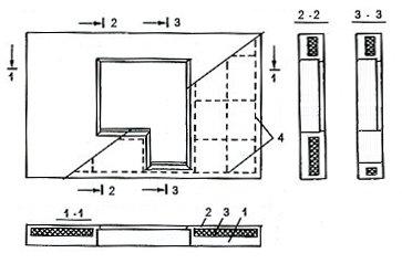 Серия дома П44к: Конструкция панели с балконной дверью