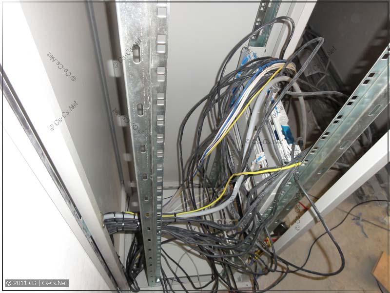 Процесс подключения щитка: кабели укладываются пучками