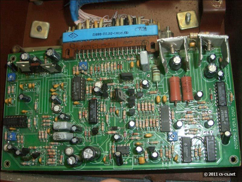 Плата электроники домофона на дискретной аналоговой и цифровой логике
