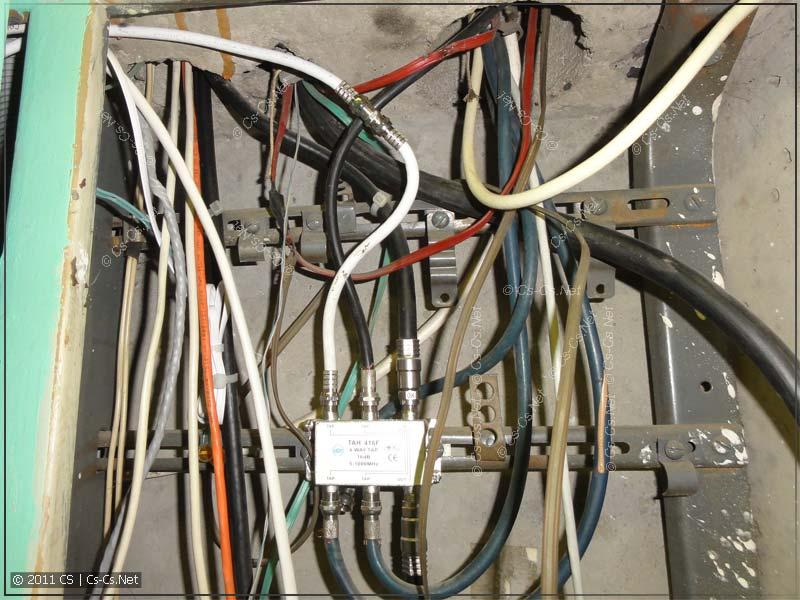 Вводного коаксиального кабеля тоже не хватило по длине