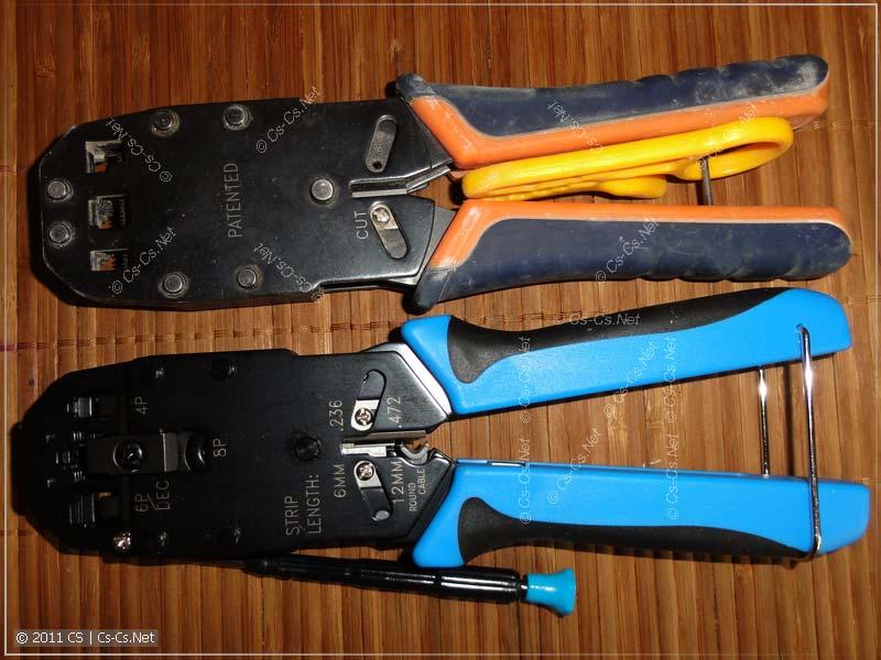 Обжимки (кримперы) Hyperline HT-2008А старой и новой версии