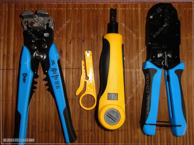 Инструмент для зачистки и обжимки для электрики и СКС