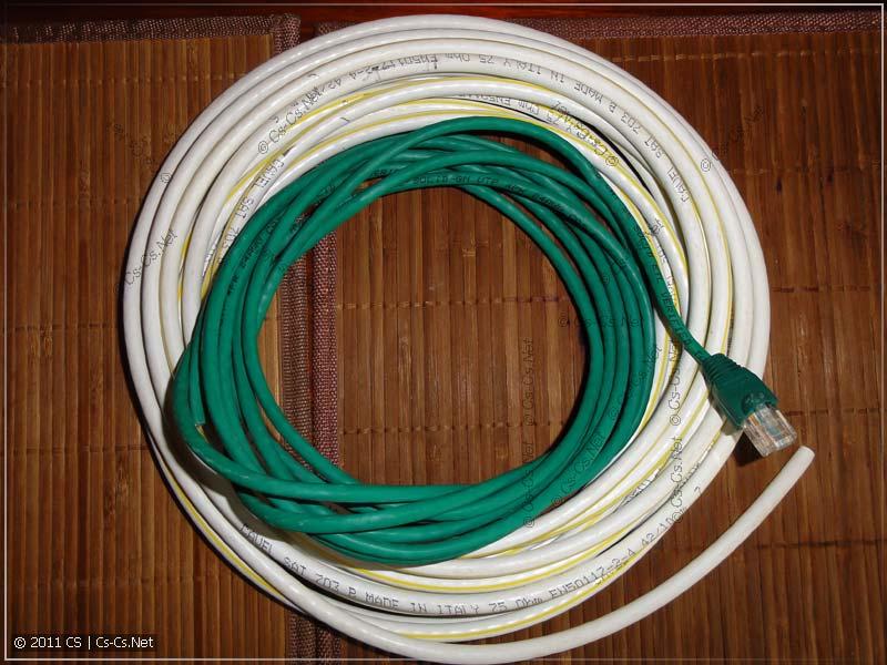Тестовые кабели: витая пара и коаксиальный