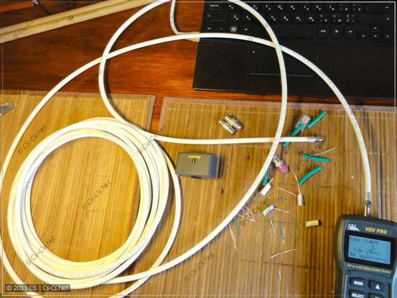 Общий вид коаксиального кабеля и неизмеренного остатка