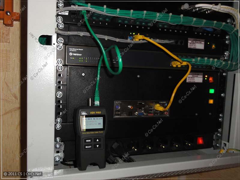 Находим нужный порт патч-панели (идентифицируем кабель)