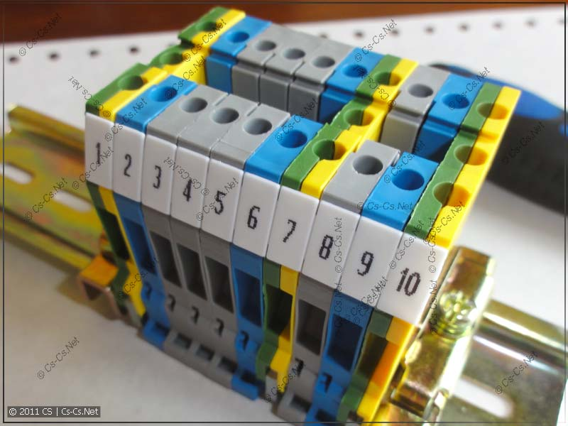 Готовый промаркированный блок клеммников ABB (ENTRELEC)