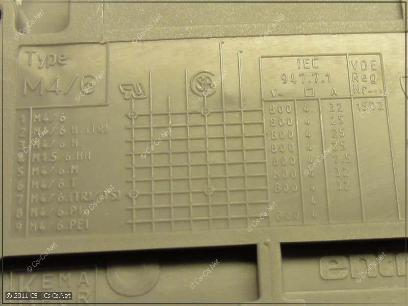 Табличка маркировки клеммника ABB (ENTRELEC) M4