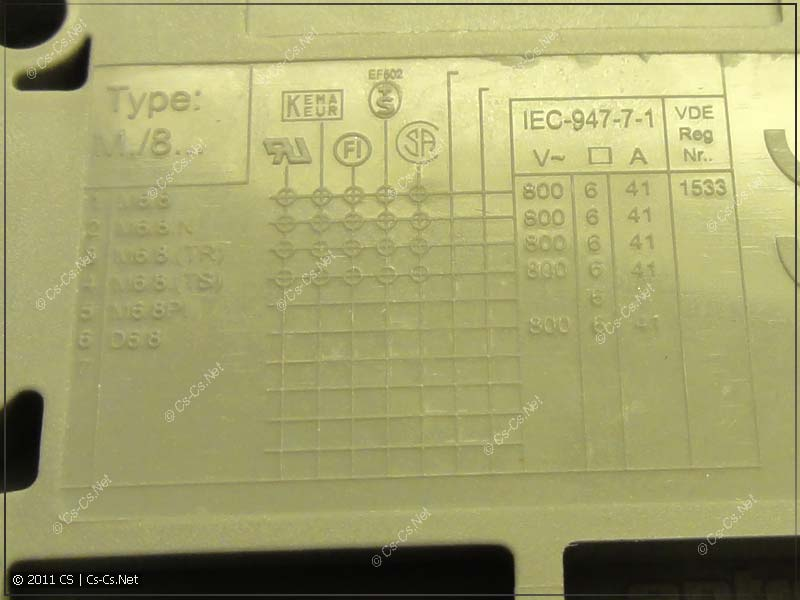 Табличка маркировки клеммника ABB (ENTRELEC) M6