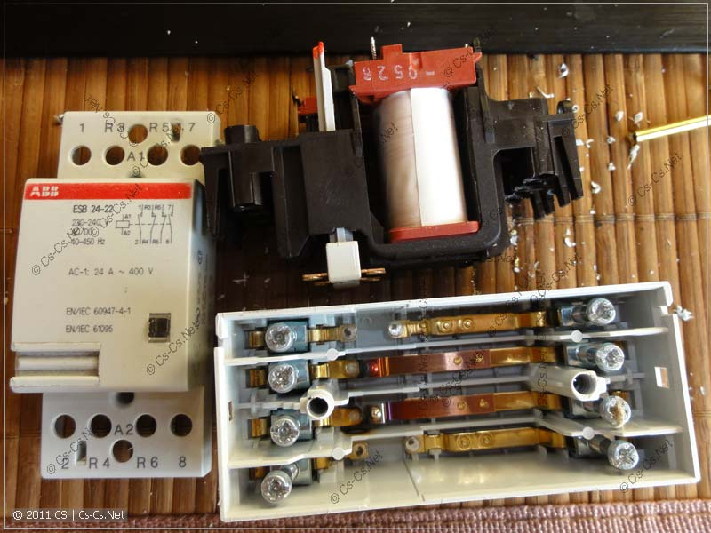 Катушка и контактная система контактора ABB серии ESB