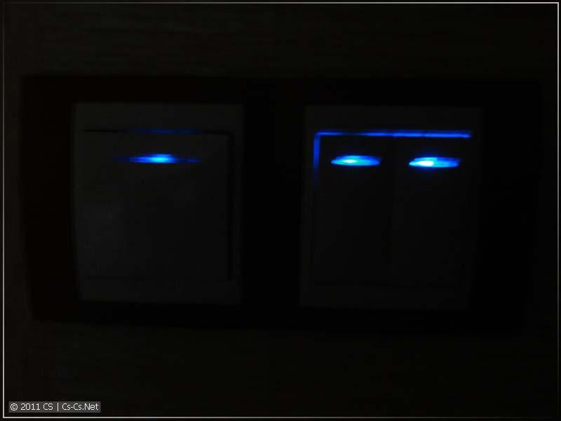 Подсветка отлично работает с нормальными импульсными реле