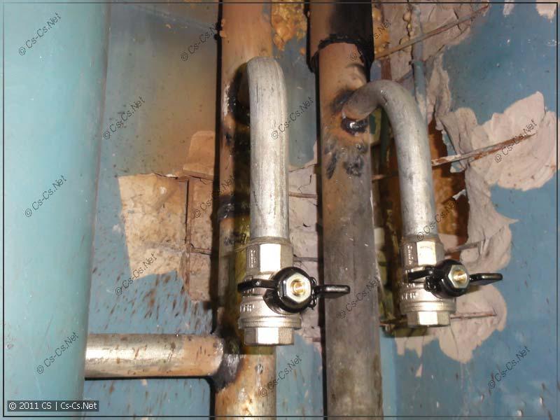 Вваренные отводы водоразбора ХВС и ГВС