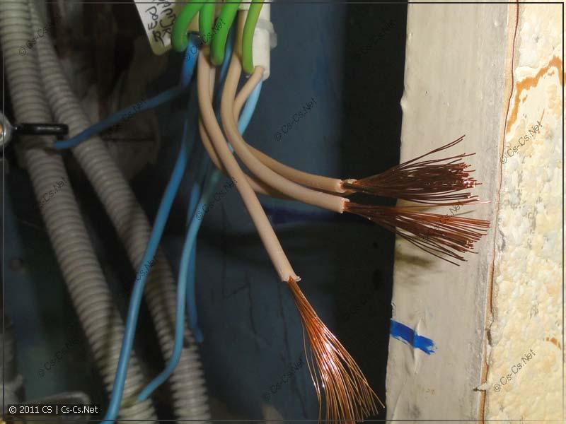 Временное подключение электрики в кухне (проводка ПВС)