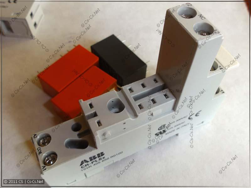 Колодка CR-PLSx на DIN-рейку для установки реле (ABB)