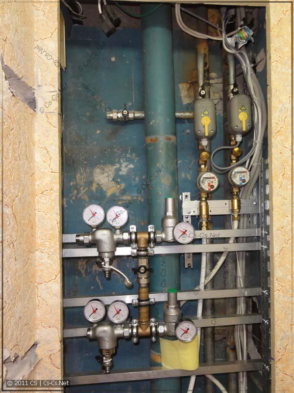 Заготовка для монтажа узла водоподготовки (фильтры и редукторы)