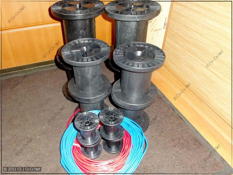 Пластиковые катушки для хранения монтажного провода для работы