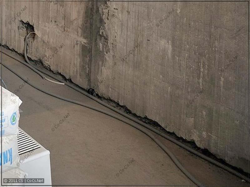 Подрезанный межпанельный шов в несущей стене