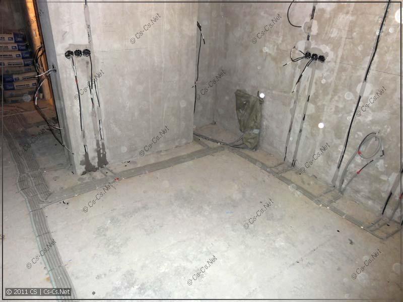 Готовая разводка кабелей (кухня)