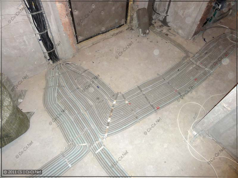 Готовая разводка кабелей (подвод к щитку)