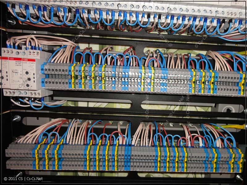 Клеммные блоки для подключения автоматики освещения