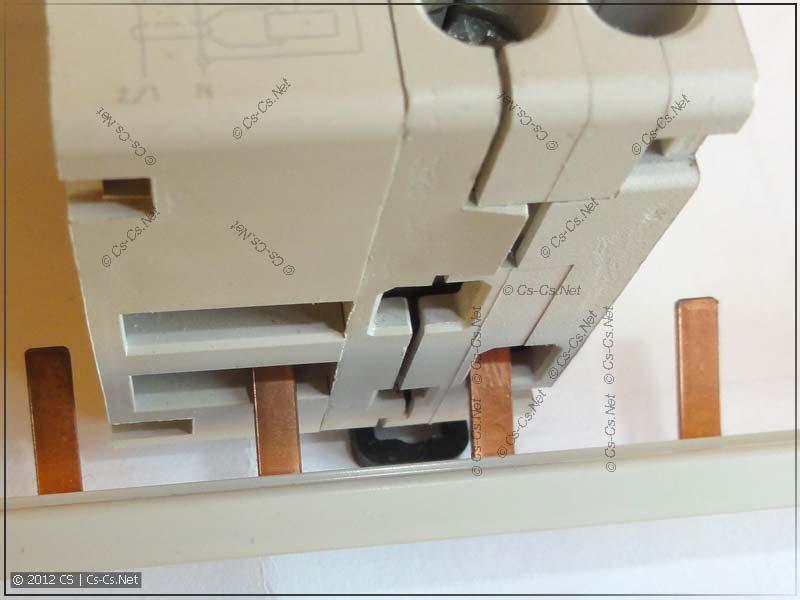 Использование стандартной гребёнки для соединения дифавтоматов