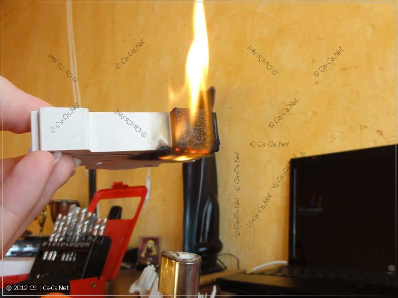 В пламени горелки корпус горит гораздо эффектнее (2)
