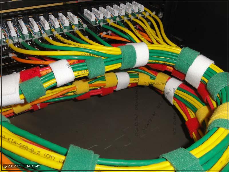 При большом количестве кабелей это выглядит так