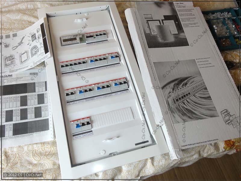 Щиток ABB серии UK 500 (подготовка к упаковке)