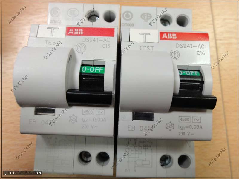 Дифавтоматы ABB DS941:
