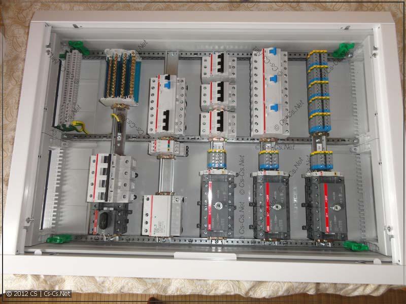 Вводной щиток (ГРЩ) с коммутацией на реверсивных рубильниках