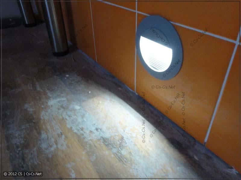 Светодиодный светильник подсветки крупным планом