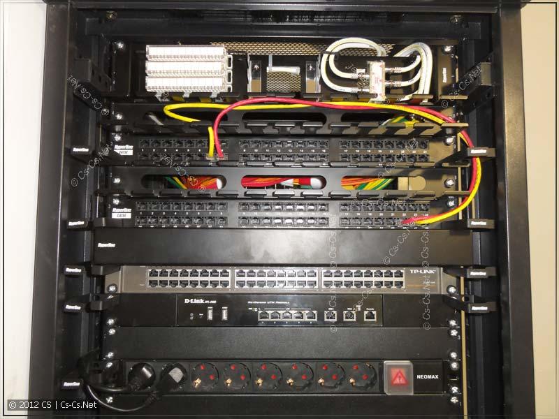 Черновая коммутация СКС: одна розетка для инета, другая - для телефона