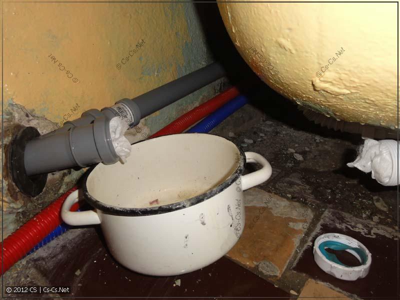 Проблемы с канализацией ванной (течёт)