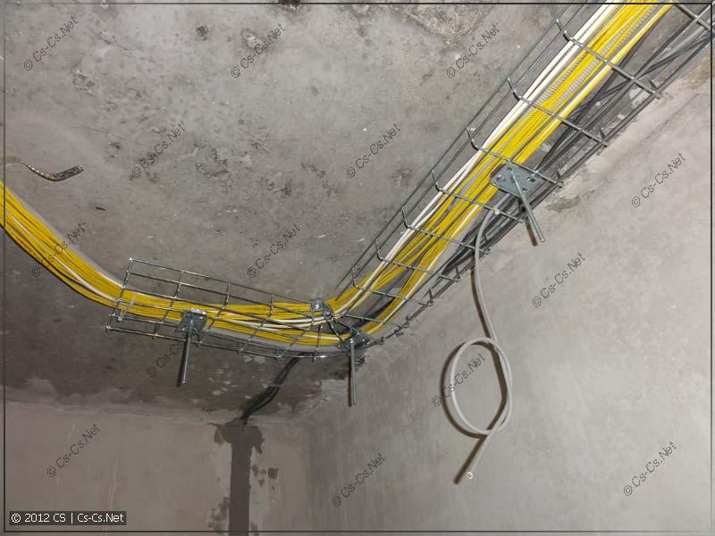Подвод кабелей к слаботочному щитку