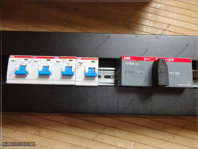 Размещение модульного оборудование в панели PS-3U