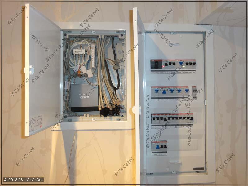 Щиты электрики и слаботочки на базе серии AB UK 500