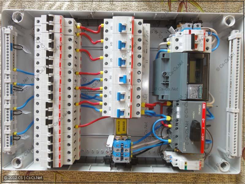 Внутренний монтаж щитка: минимум проводов и ни одной стяжки!