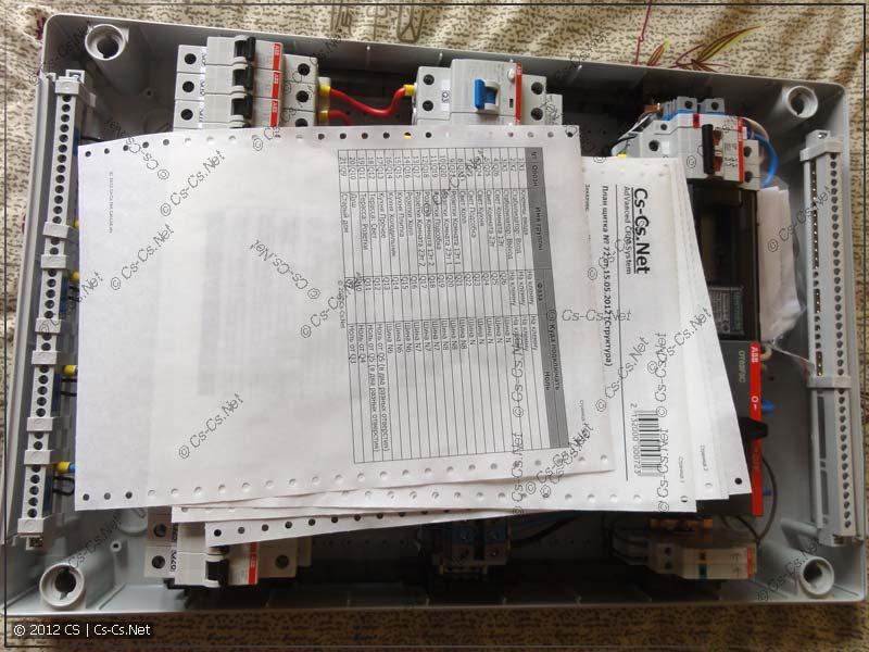 Укладываем внутрь документацию и прочие бумаги