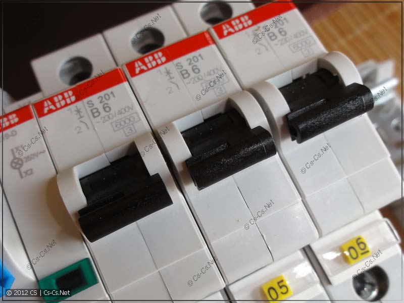 "Автоматы ABB S200 категории отключения ""B"""