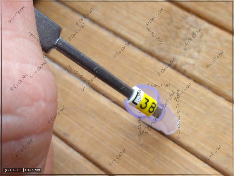 Запихиваем получившуюся надпись в нужный элемент (трубочку)