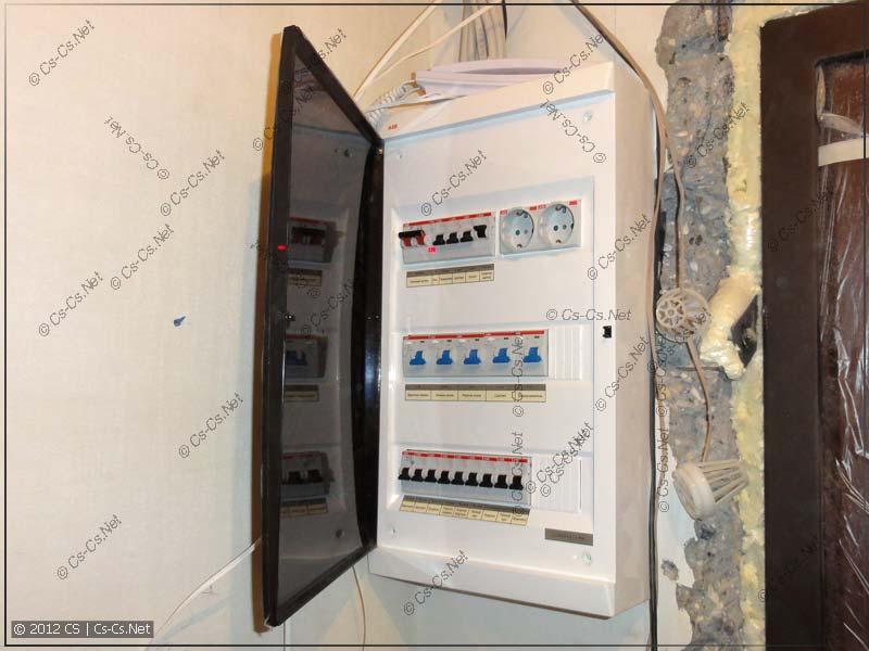 Небольшой квартирный щиток для проводки в кухню и ванную