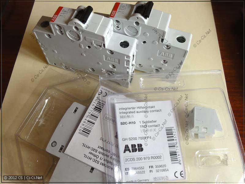 Автоматы ABB серий S200 и SH200L и сигнальные контакты для них