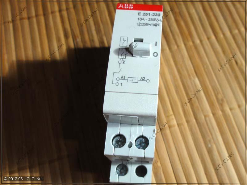 Импульсное реле ABB E251-230: подготовка к препарации